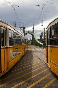 Trams in Budapest van