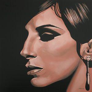 Barbra Streisand painting