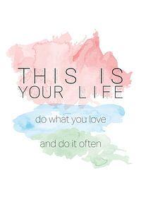 'This is your life' in pastelkleuren van