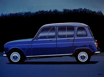 Renault 4 schilderij von Paul Meijering