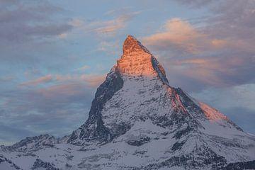 Morgenrot Alpenglühen am Matterhorn von Martin Steiner