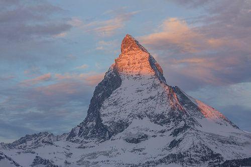 Morgenrot Alpenglühen am Matterhorn
