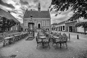 Altes Rathaus und Wasserpumpe in IJsselstein. von Tony Buijse