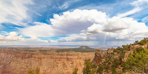 Regen op de Navajo vlakte