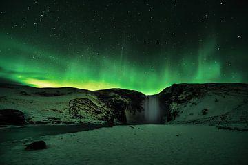 Poollicht Noorderlicht Aurora Borealis van Henry Oude Egberink