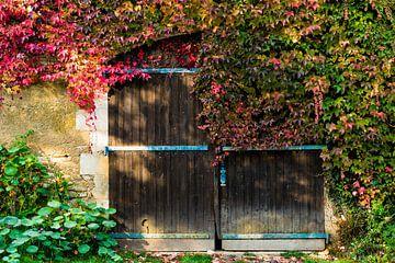 Boerenschuur in herfstkleuren van Floris van Woudenberg