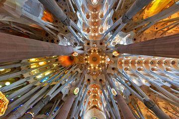 Voûte du plafond de la Sagrada Familia sur Jürgen Wiesler