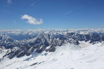Uitzicht vanaf de Zugspitze  van