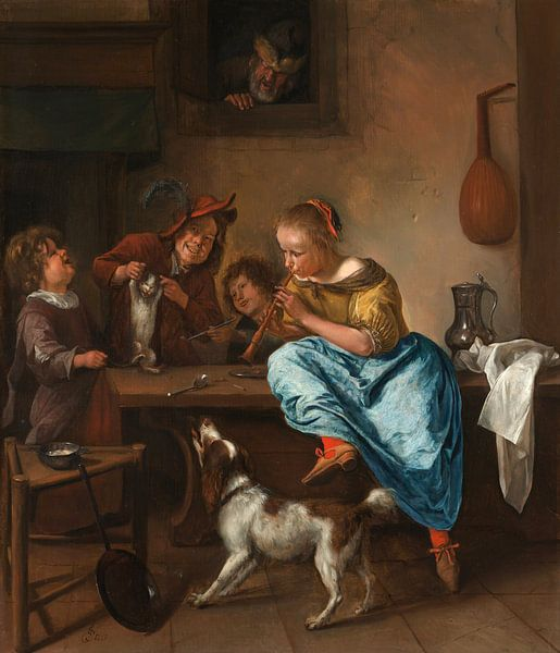 Jan Steen. De dansles van 1000 Schilderijen