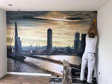 Klantfoto: Rotterdam Skyline in the morning (Landscape) van Rob van der Teen