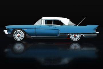 Cadillac Eldorado Brougham gebouwd in 1957 Lateral View Blauw van Jan Keteleer