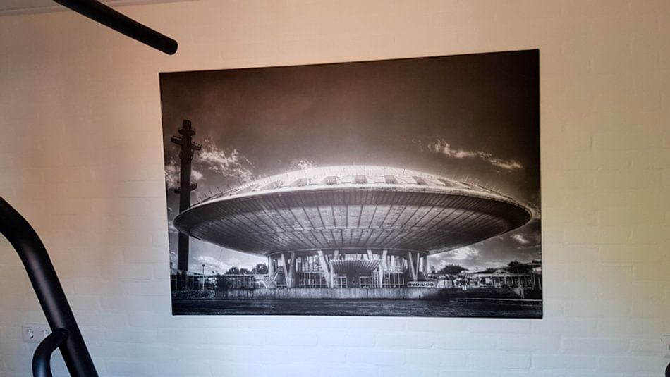 Klantfoto: Evoluon Eindhoven van Jasper Scheffers, op canvas