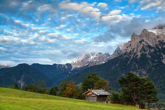 Karwendel mountains by Mittenwald