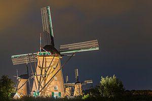 Verlichte molens Kinderdijk - 1 van