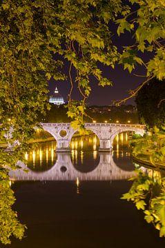 Petersdom und Ponte Mazzani, Rom von Jack Koning