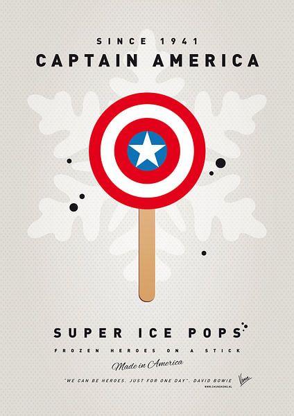 My SUPERHERO ICE POP - Captain America van Chungkong Art