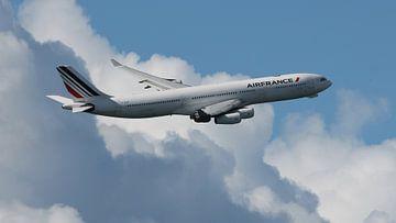 Airfrance Airbus A340 Sint maarten van Jelle Thijssen