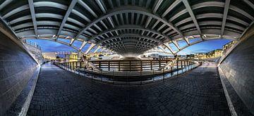 Berlin Panorama unter der Kronprinzenbrücke von Frank Herrmann
