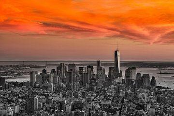 Skyline Manhattan van Edwin Hendriks
