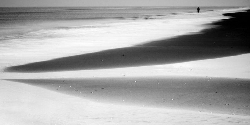 Het Noordzeestrand bij Noordwijk I van Chantal Heusschen