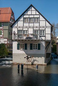 House in the water Fischer quarter Ulm van Michael Nägele