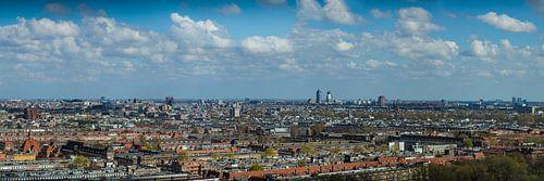 Skyline Amsterdam panorama van