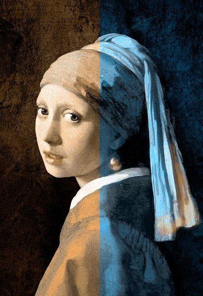 Girl with Pearl Earring – The Split Colours Edition von Marja van den Hurk