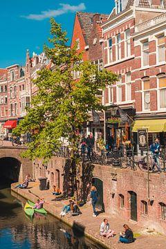 Sommer am alten Kanal in Utrecht, Niederlande von marijn zeilstra