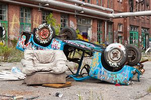 Verlaten Berlijn aan de muur. van Sander van Leusden