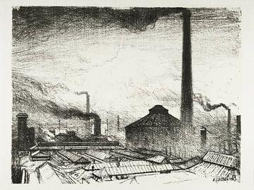 Waar de wapens worden gemaakt - George Clausen, 1917 van Atelier Liesjes