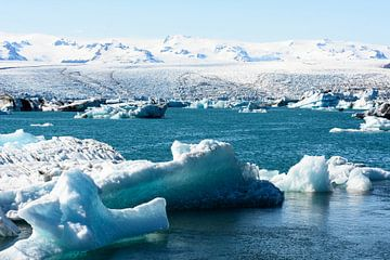 Gletsjermeer in IJsland van