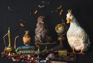 Stilleven pluimvee, stillife poultry van Corrine Ponsen
