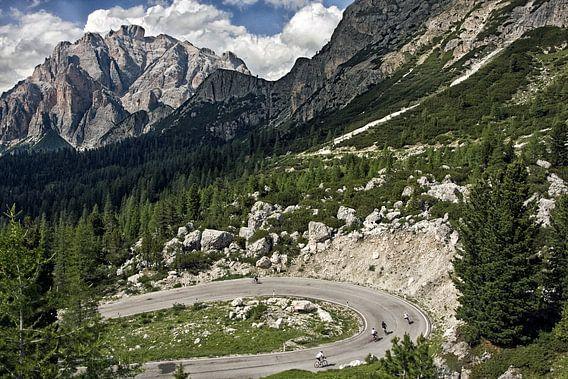 Berglandschap Passo Valparola, Dolomieten