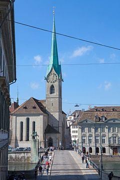 Zürich - Münsterbrücke en Fraumünster kerk van t.ART