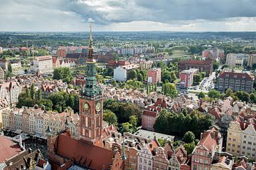 Uitzicht vanuit de Mariakerk in Gdansk, Polen van Ellis Peeters