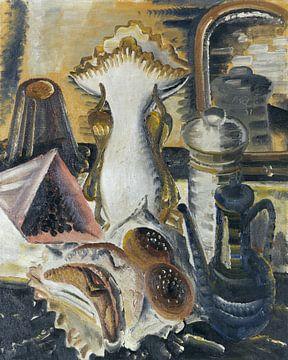 Stillleben mit Kaffeekanne, Korinthen und Obst, Paul Kleinschmidt,  1931 von Atelier Liesjes