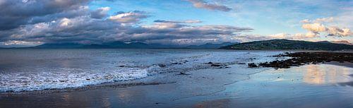 Panorama aan de kust van Wales, Groot Brittannië