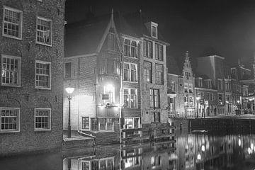 Alkmaar in de nacht  van Michel Postma