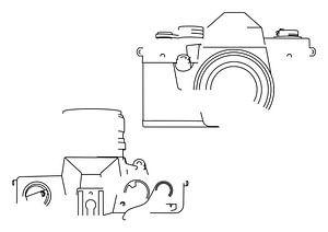 Analogkamera-Silhouette (praktischer Super TL2-Stil)