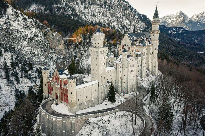 Kasteel Neuschwanstein Beieren in de winter van Thilo Wagner