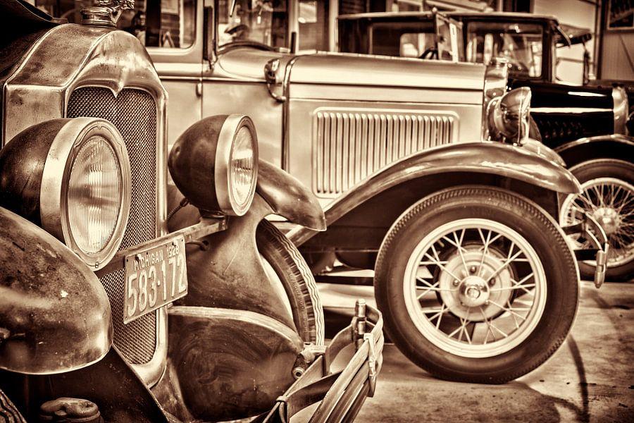 Rij  klassieke Ford T's
