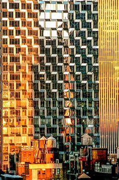 Watertorens van NY van Annelies Martinot