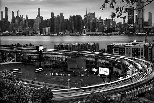 New York   und Lincoln Tunnel  Einfahrt van
