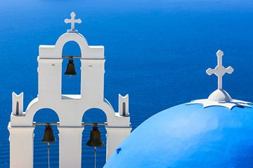 Aghioi Theodoroi Kirche in Firostefani, Santorini von Henk Meijer Photography