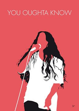 No152 MY Alanis Morissette Minimal Music poster van Chungkong Art