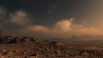 Rotsachtig ruig landschap. van Ysbrand Cosijn