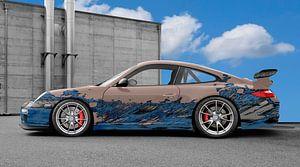 Porsche 911 GT3 Typ 997 Art Car in blue-bisque