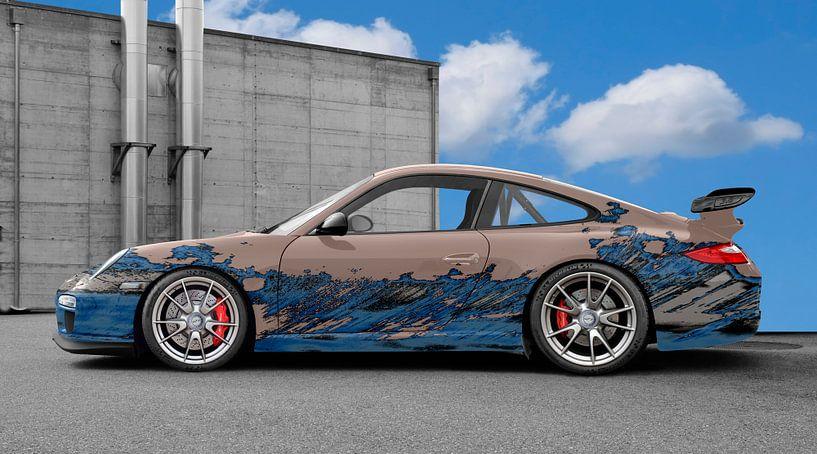 Porsche 911 GT3 Typ 997 Art Car in blue-bisque von aRi F. Huber