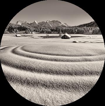 Golven in de sneeuw van Denis Feiner