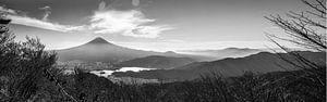 Zicht op mount Fuji  van